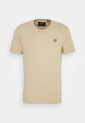 V NECK - T-shirt basic - sand storm