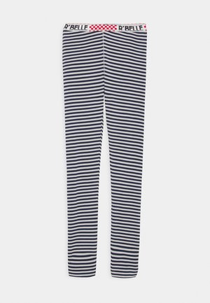 WITH ELASTIC WAISTBAND - Leggings - Trousers - navy/white