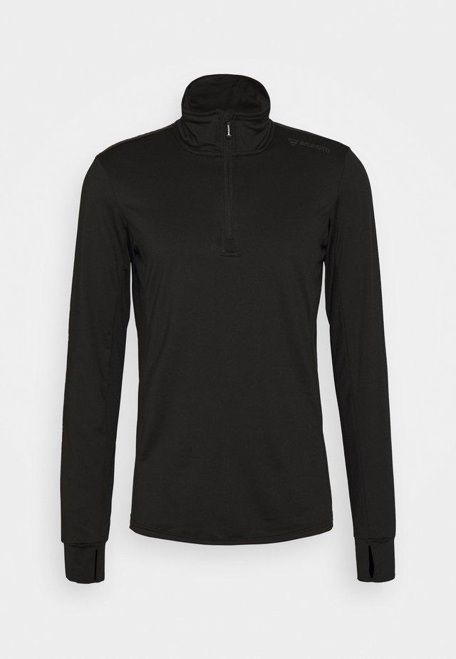 TERNI MENS - Long sleeved top - black