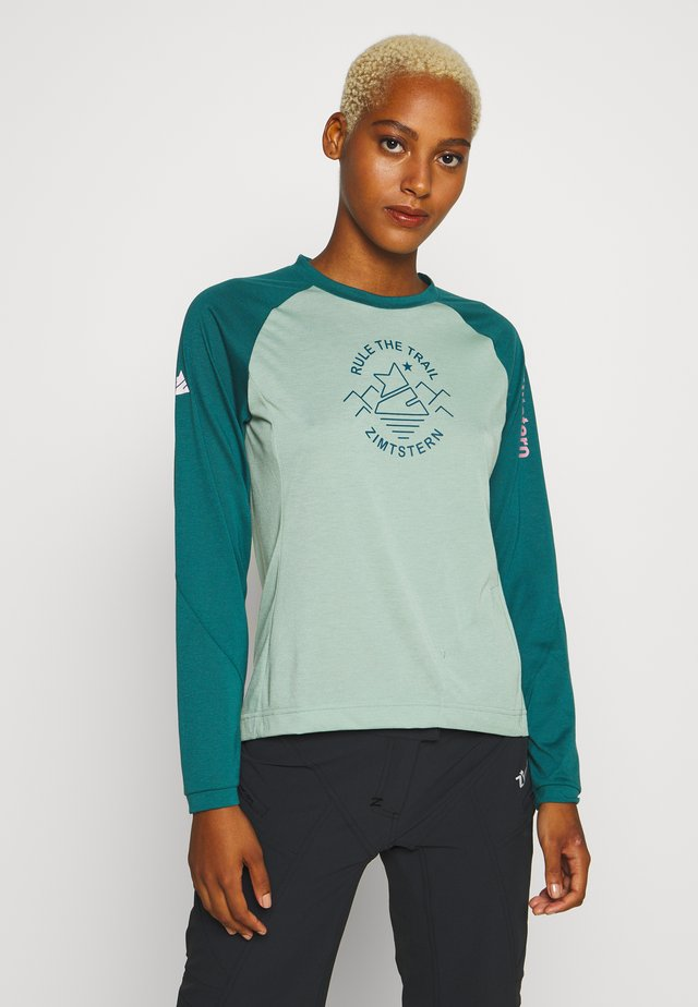 PUREFLOWZ  - Sportshirt - granite green/pacific green/blush