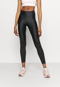 Under Armour - ISO CHILL RUN ANKLE - Leggings - black - 0