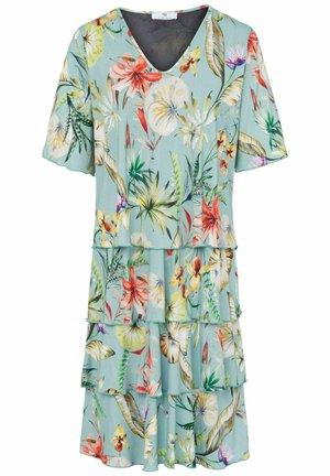 MIT V-AUSSCHNITT  - Jersey dress - türkis/multicolor