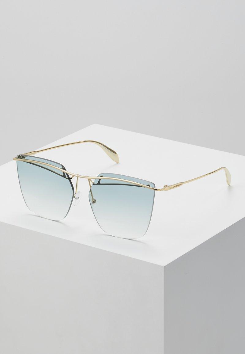 Alexander McQueen - Sunglasses - gold-coloured/blue