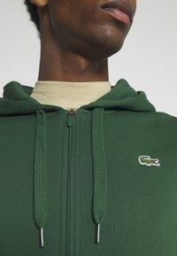 Lacoste - CLASSIC HOODIE - Zip-up sweatshirt - green - 4