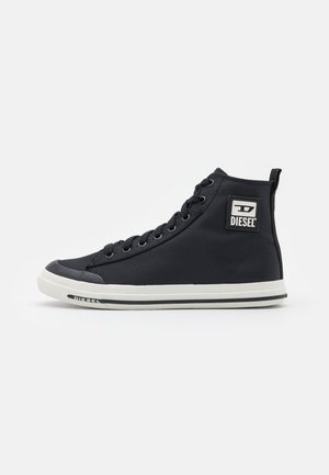 S-ASTICO MID CUT - Korkeavartiset tennarit - black/white