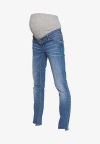 MAMALICIOUS - MLAZUL  - Vaqueros slim fit - medium blue denim - 5