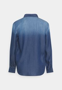 TOM TAILOR - BLOUSE WITH DENIM LOOK - Button-down blouse - dark stone wash denim - 1