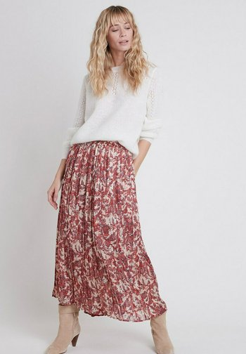 Pleated skirt - rouge