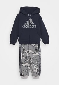adidas Performance - FAVOURITES TRAINING SPORTS TRACKSUIT BABY SET - Dres - legend ink/grey three - 0