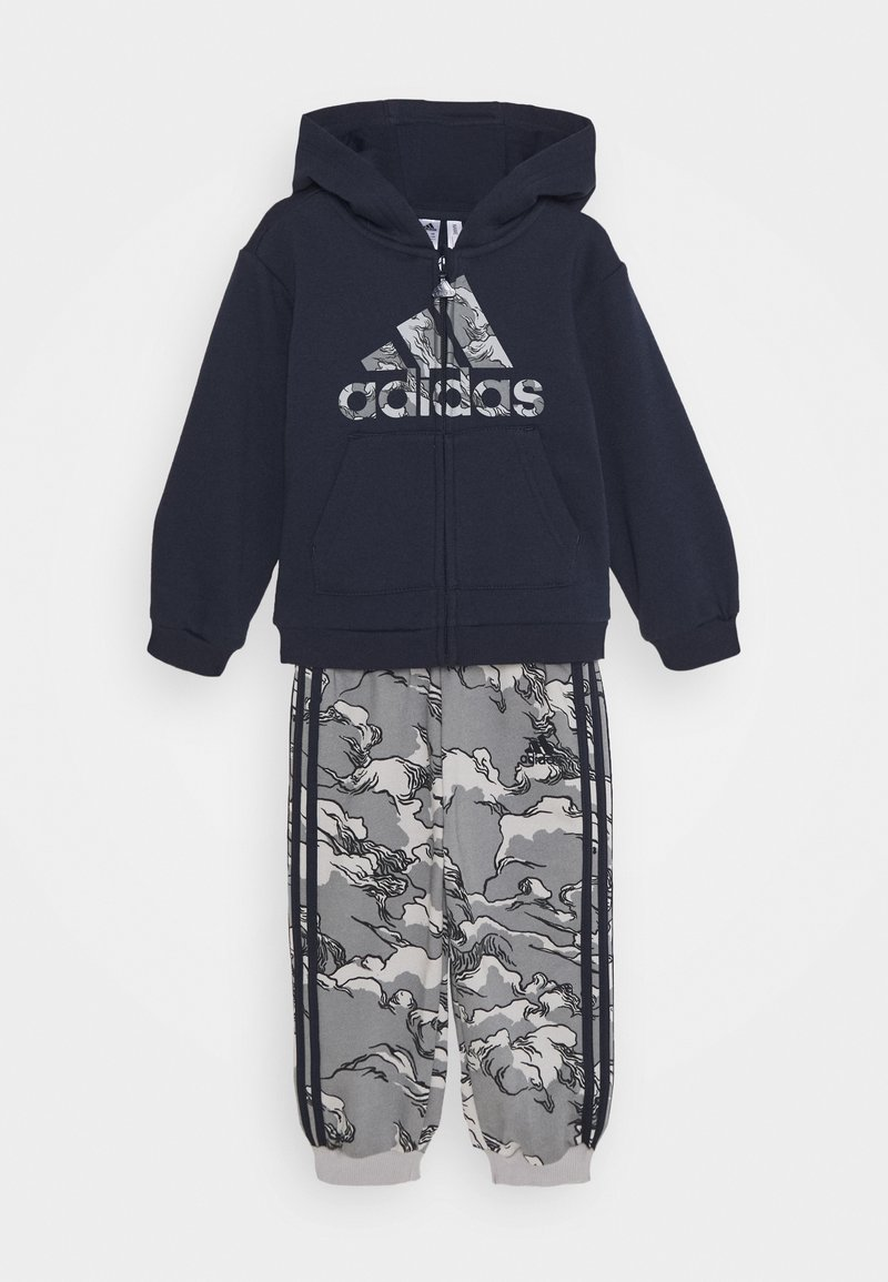 adidas Performance - FAVOURITES TRAINING SPORTS TRACKSUIT BABY SET - Dres - legend ink/grey three