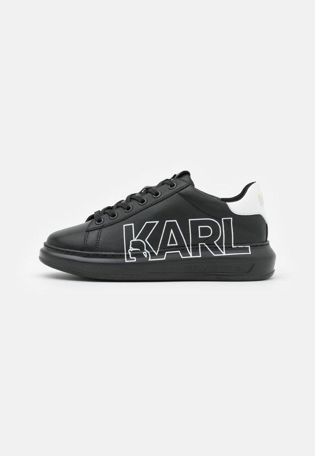 KAPRI OUTLINE LOGO - Sneakers laag - black/silver