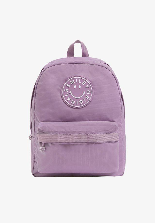 SMILEY-LOGO - Backpack - mauve