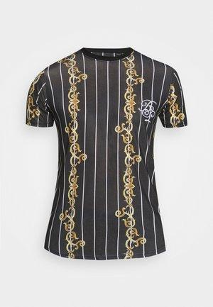 CALOR - T-shirt imprimé - jet black/multicolour