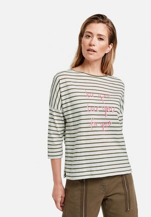 T-shirt à manches longues - beige/white/green