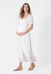 Seraphine - SHIRRED MATERNITY - Maxi dress - white - 1