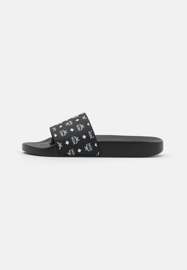 LOGO GROUP SLIDE - Mules - black