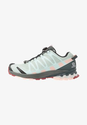 XA PRO 3D V8 - Chaussures de running - aqua gray/urban chic/tropical peach