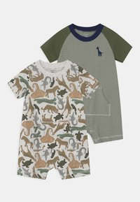 Carter's - ANIMAL 2 PACK - Overal - khaki - 0