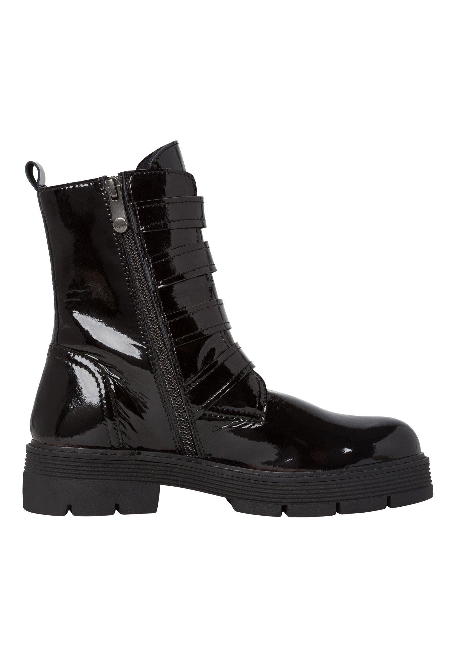 Marco Tozzi STIEFELETTE Cowboy/Bikerstiefelette black patent/schwarz