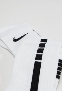 Nike Performance - ELITE CREW - Sports socks - white/black/black