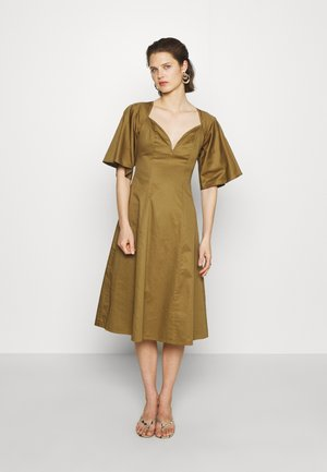 THE LOVEHEART NECKLINE DRESS - Vestido informal - khaki army