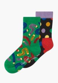 Happy Socks - KIDS PEN 2 PACK UNISEX - Socks - multi-coloured - 0