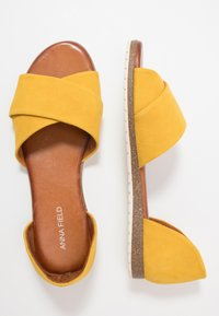 Anna Field - LEATHER - Sandals - yellow - 3