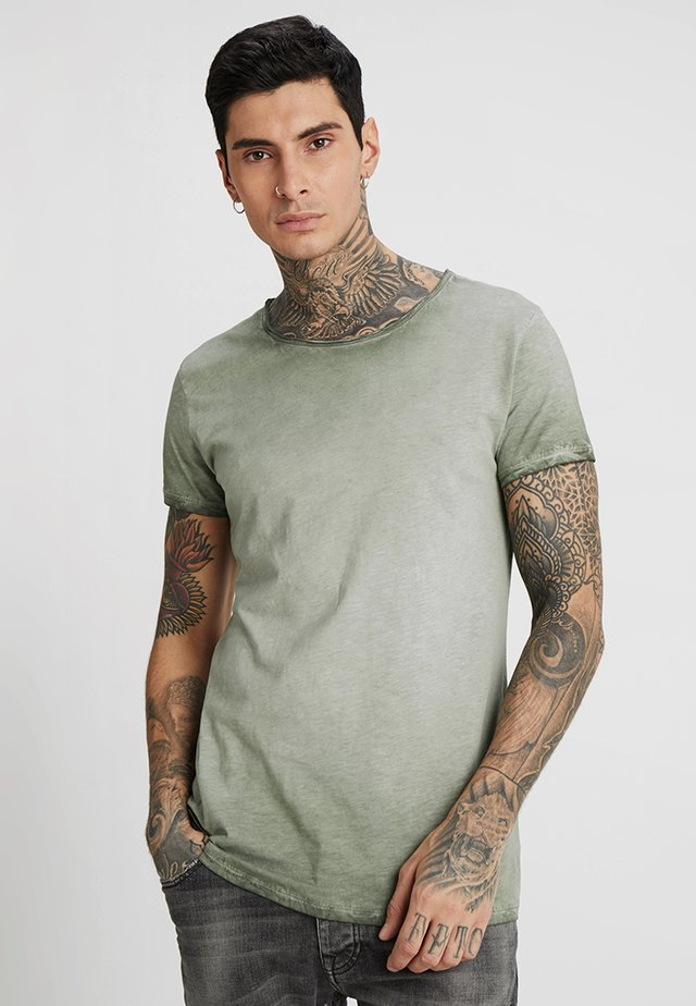 VITO SLUB - T-shirt print - military green