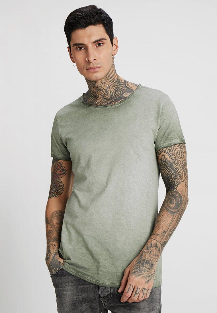 Tigha - VITO SLUB - T-shirt med print - military green