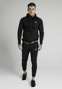 SIKSILK - SCOPE TAPE ZIP THROUGH HOODIE - Felpa aperta - black - 1