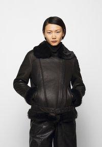 STUDIO ID - BIKER JACKET - Leather jacket - black/dark grey - 0