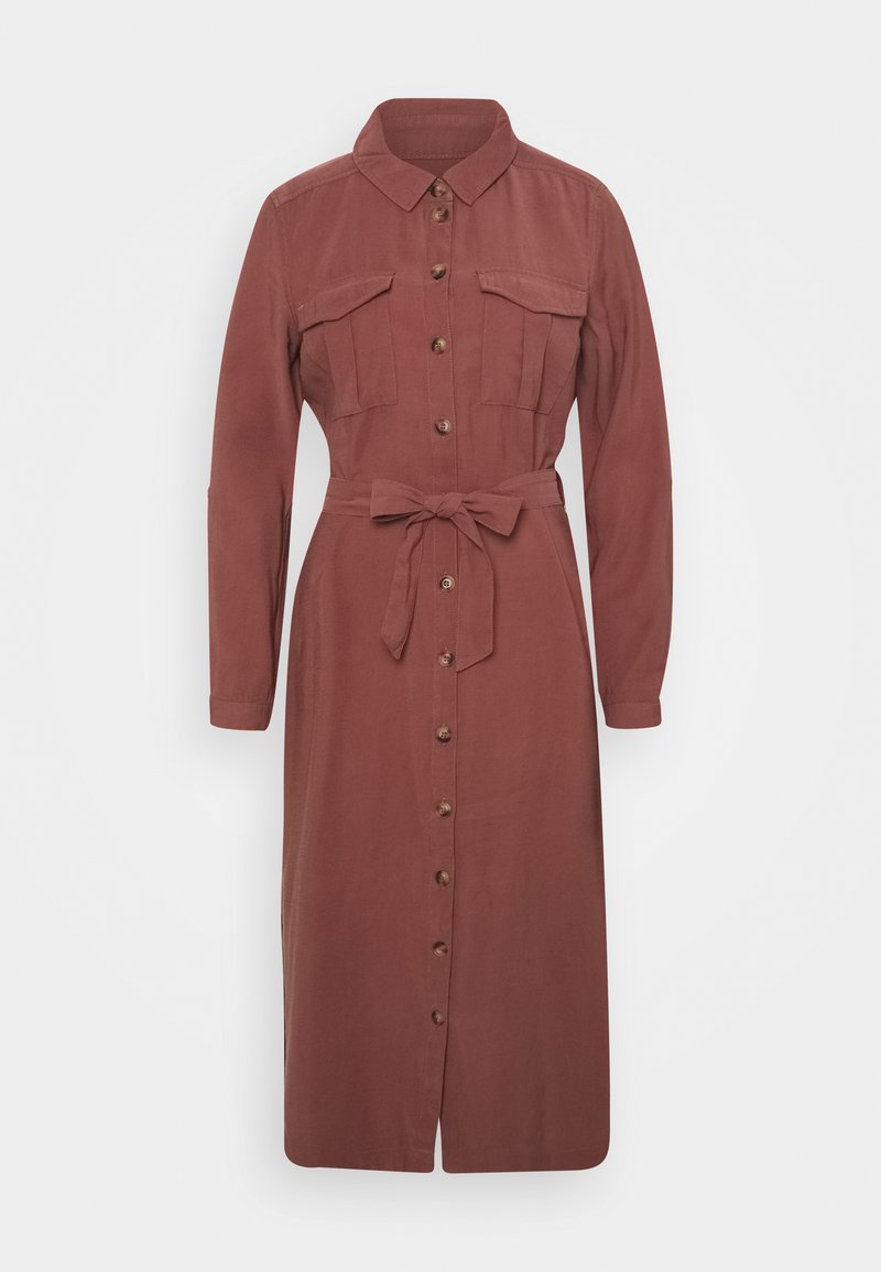 ONLY - ONLNEW ARIS LIFE DRESS  - Vestido camisero - apple butter