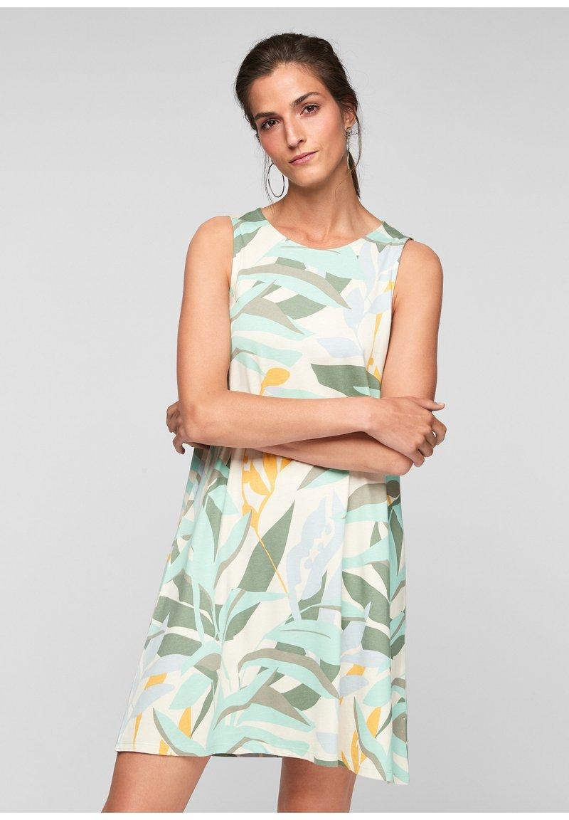 s.Oliver - MET RUGHALS - Jersey dress - cream aop
