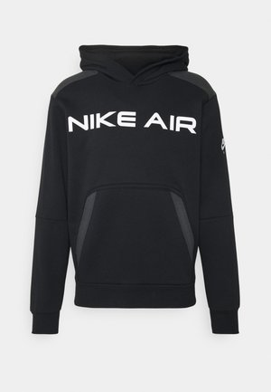AIR HOODIE - Felpa con cappuccio - black/dark smoke grey/white