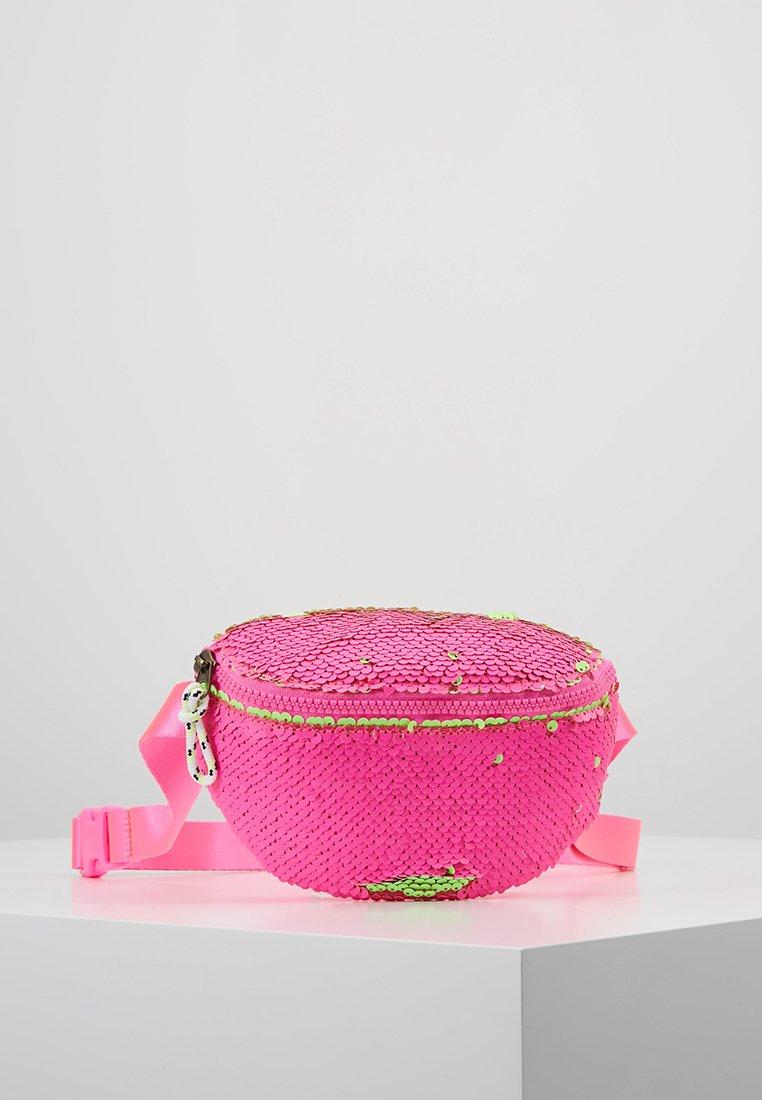 J.CREW - SEQUIN FANNY PACK - Bältesväska - neon pink