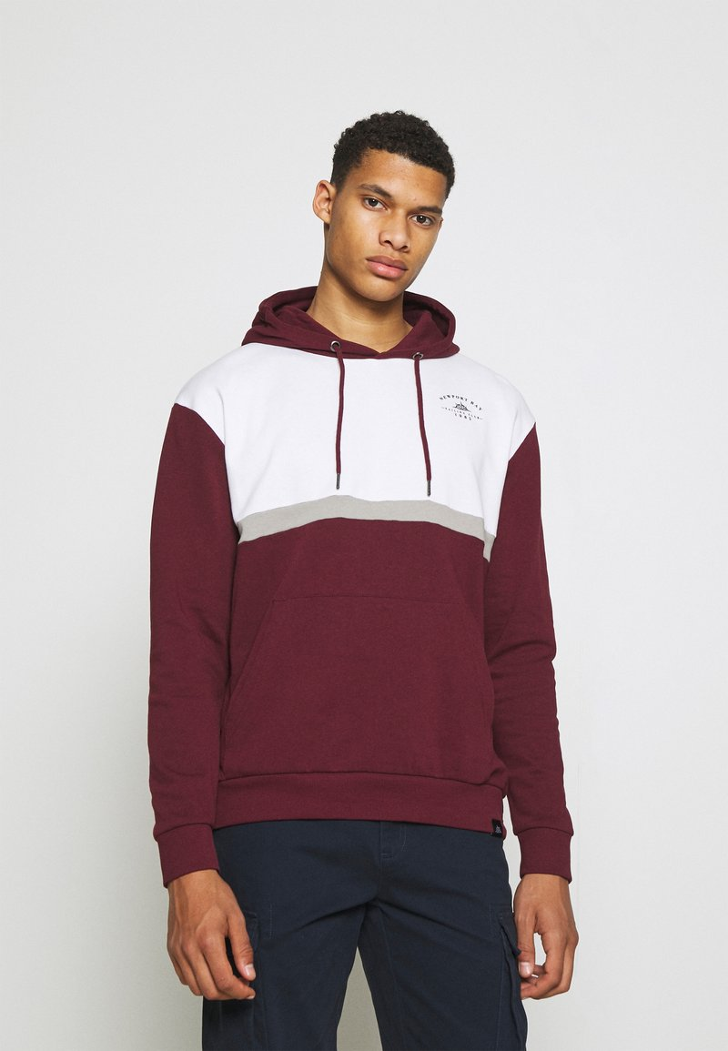 Newport Bay Sailing Club - PANEL HOODIE - Sweatshirt - burgundy/white