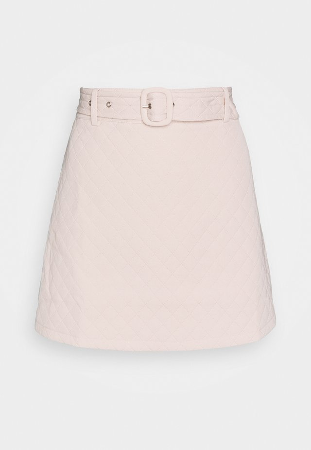 JEEVES SKIRT - A-lijn rok - cream quilted