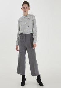 ICHI - Button-down blouse - alloy - 1