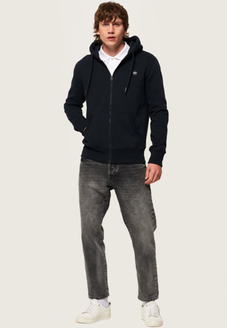 Superdry COLLECTIVE - veste en sweat zippée - navy blue