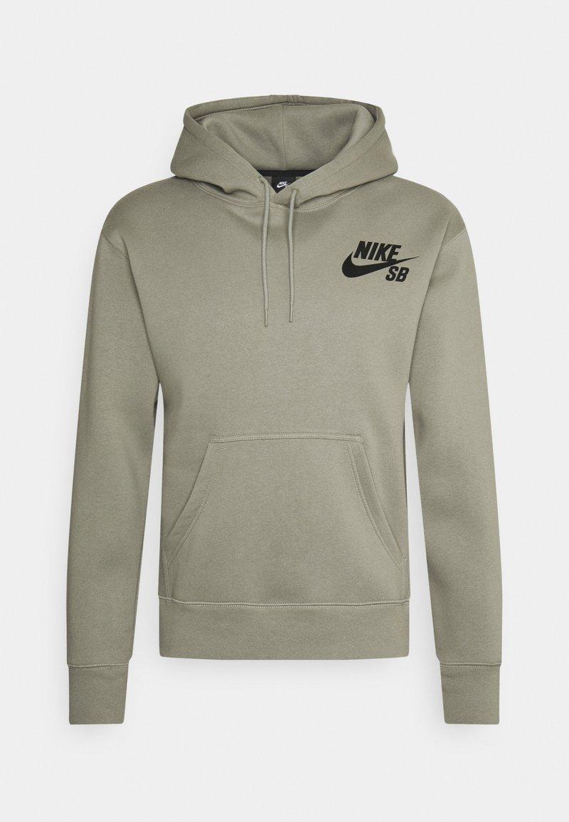Nike SB - ICON HOODIE UNISEX - Hoodie - light army/black