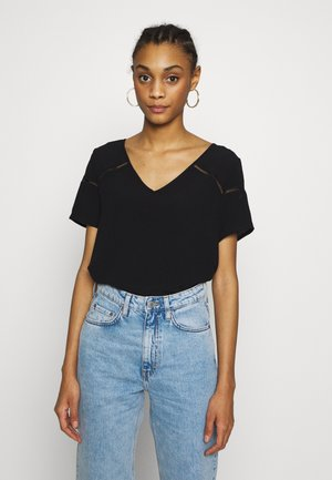 VIMERO DETAIL TOP - Blouse - black