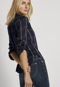 TOM TAILOR - Button-down blouse - navy grid check - 3