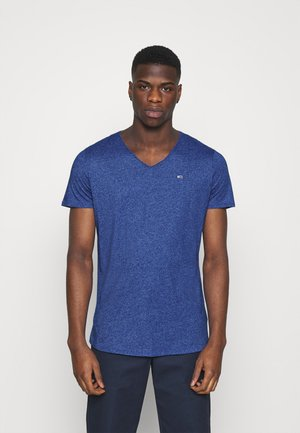SLIM JASPE V NECK - T-shirt basique - blue