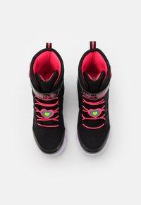 Skechers - SWEETHEART LIGHTS - Veterboots - black/hot pink - 3