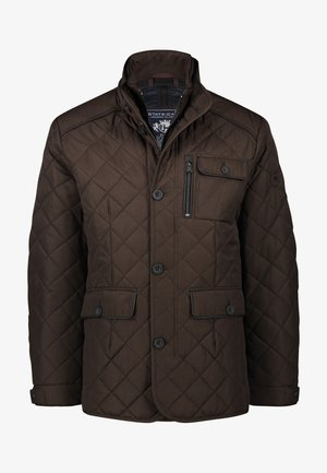 Winter jacket - dark brown/midnight