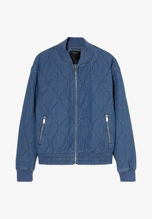 Bomber Jacket - blue denim