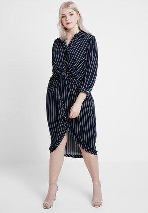 EXCLUSIVE DRESS STRIPE - Košilové šaty - navy