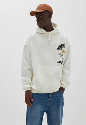 A DAY IN NEW YORK CITY - Hoodie - mottled beige