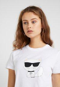 KARL LAGERFELD - IKONIK CHOUPETTE - Print T-shirt - white - 4