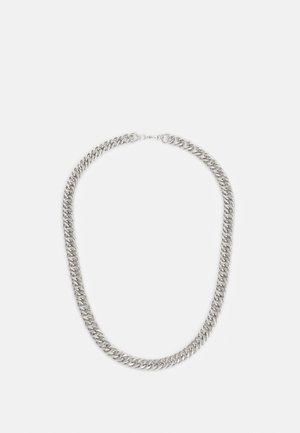 FLAT CHAIN NECKLACE - Collana - silver-coloured